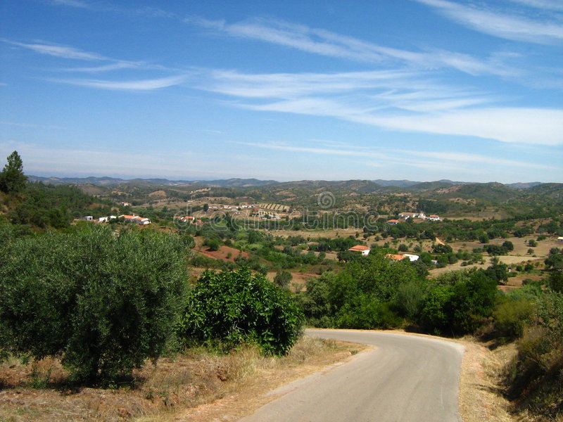 Overview scenic nature algarve royalty free stock image