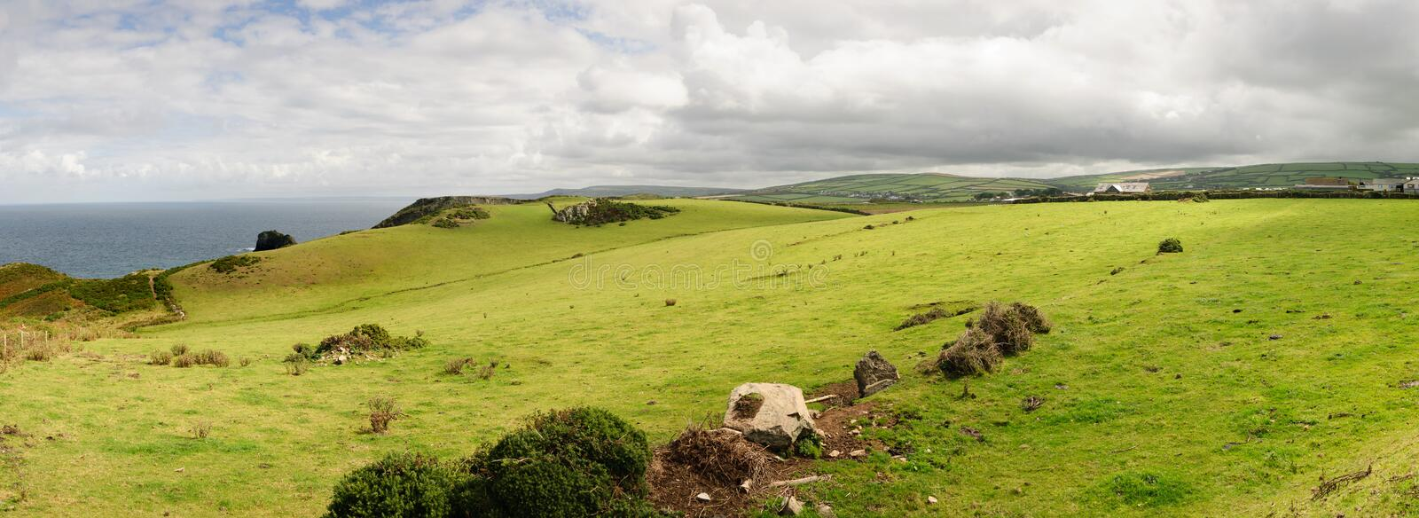 Overview Tintagel Royalty Free Stock Photography