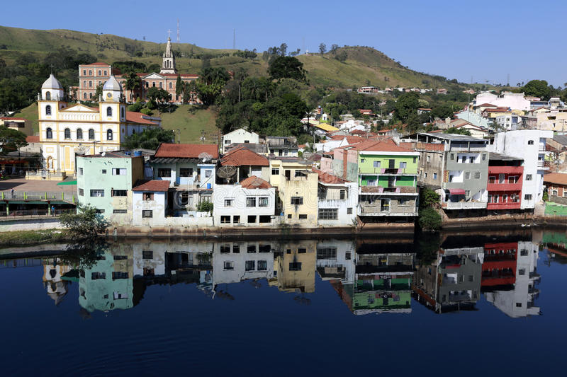 Overview of the tourist town of Pirapora Bom Jesus. PIRAPORA DO BOM JESUS, SP, BRAZIL - AUGUST 1, 2015 - Overview of Pirapora do Bom Jesus, tourist city of the stock photography