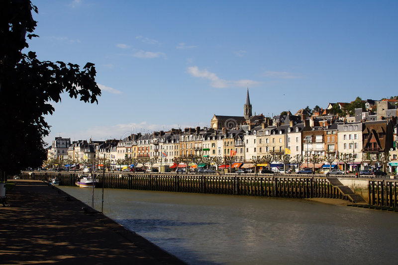 Download Overview of Trouville stock photo. Image of touristic - 7448168