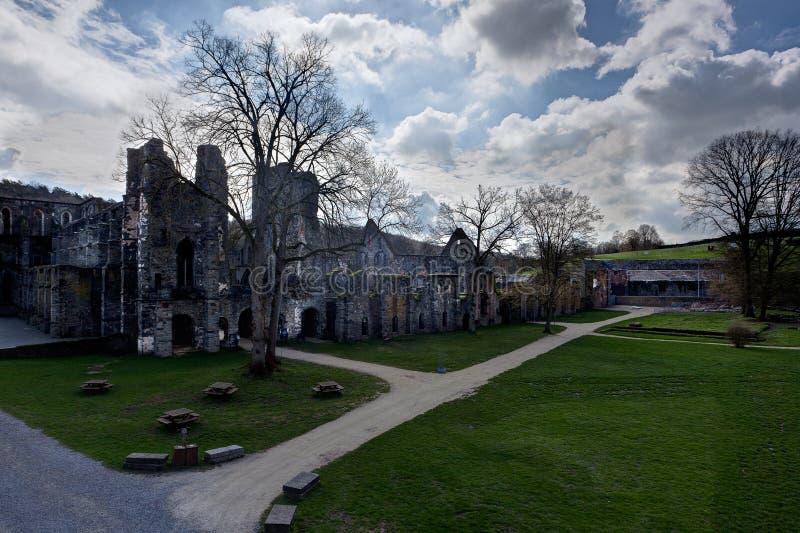 Ruins monastery Abbey Villers la Ville, Belgium stock image
