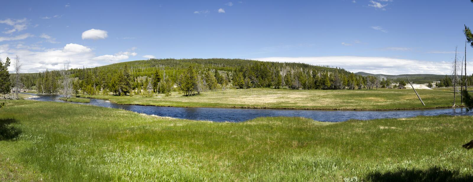 Download Overview in Yellowstone stock image. Image of park, tourism - 26102561