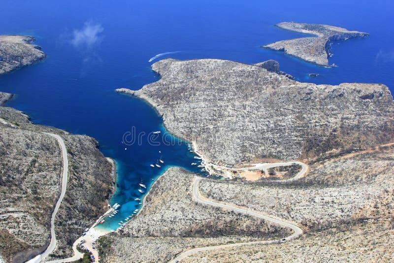 Overview on Zakynthos island royalty free stock photo