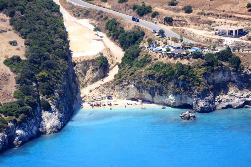 Overview on Zakynthos island royalty free stock image