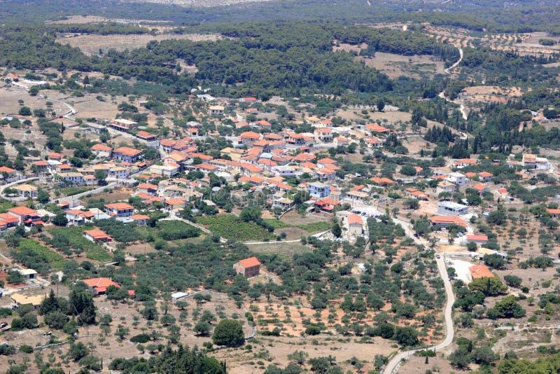 Overview on Zakynthos island royalty free stock photography