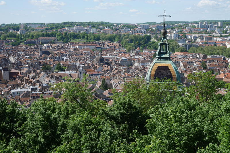 Overviewing Besancon stock image