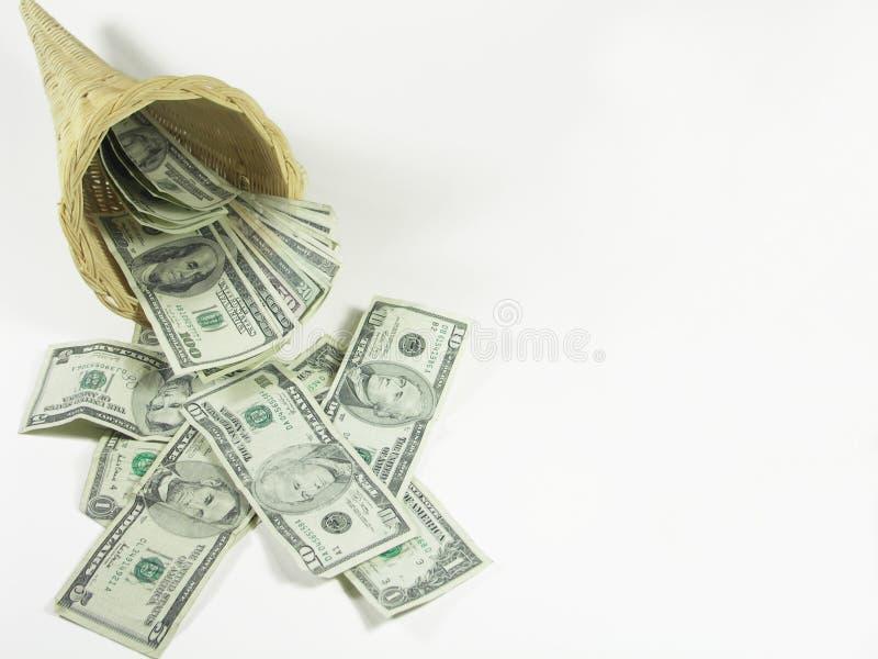 Overvloed van geld stock afbeelding