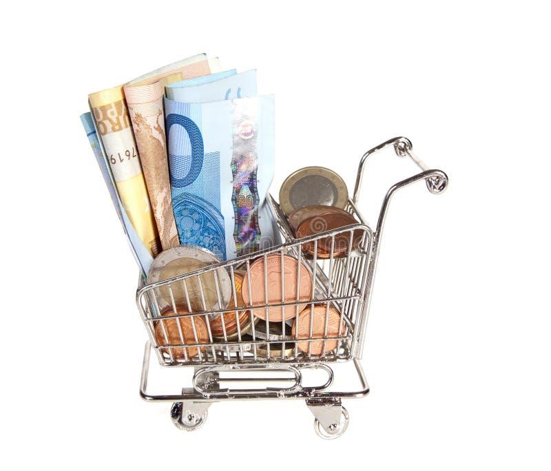Overvloed van geld voor het winkelen royalty-vrije stock afbeeldingen