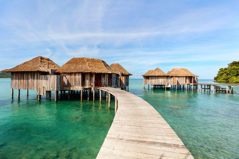 Overwater bungalow arkivfoton