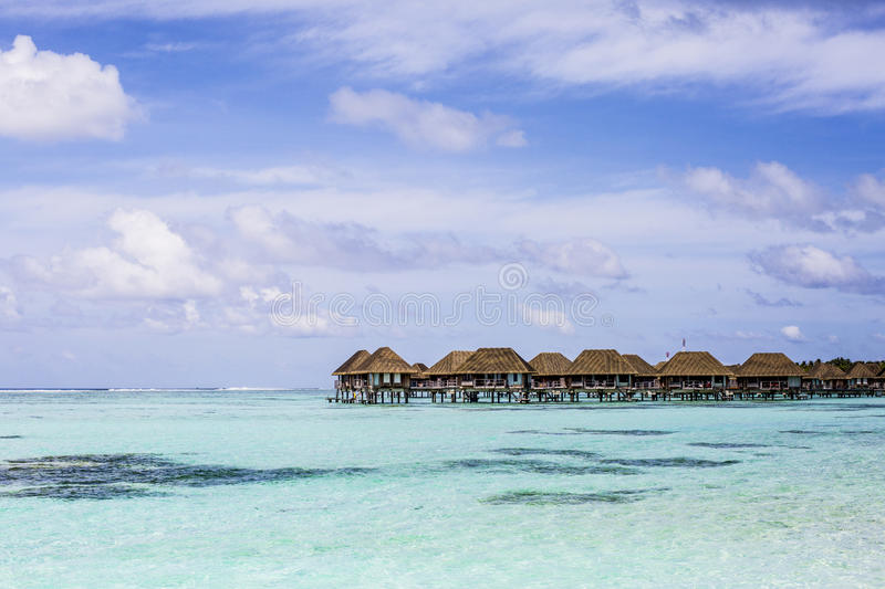 Download Overwater Villas In The Maldives Stock Image - Image of lagoon, destination: 75984783