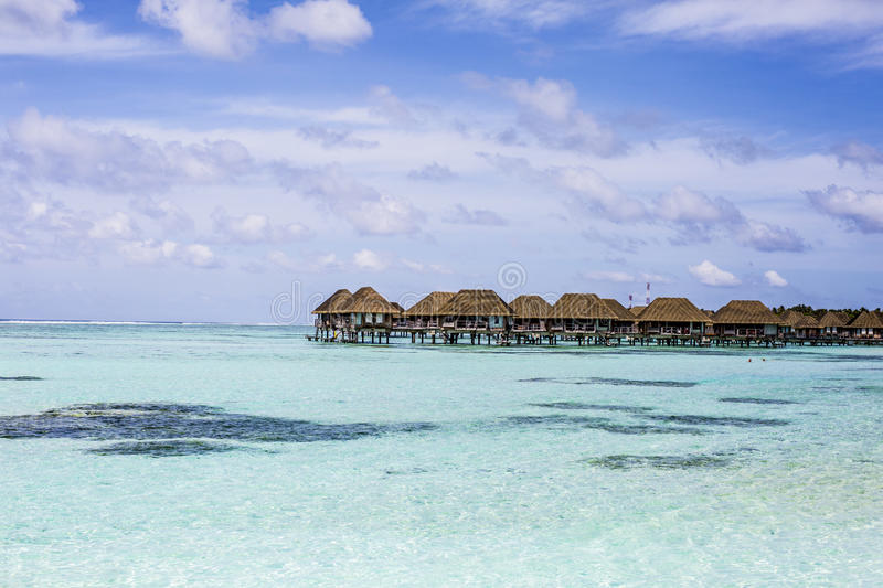 Download Overwater Villas In The Maldives Stock Image - Image: 75984863