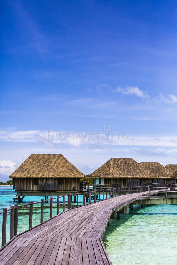 Download Overwater Villas In The Maldives Stock Image - Image of skies, island: 75985545