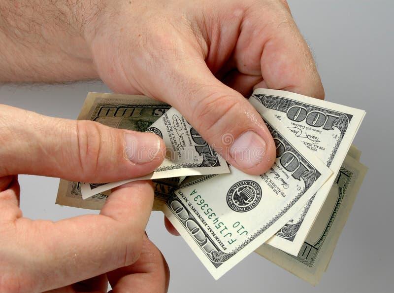 Overweeg geld royalty-vrije stock afbeeldingen