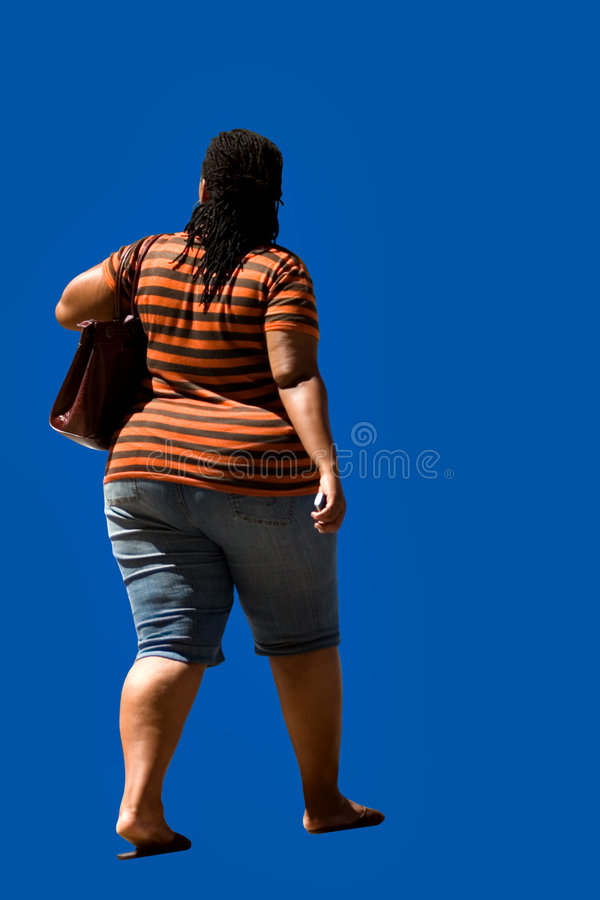 Overweight african american royalty free stock photography