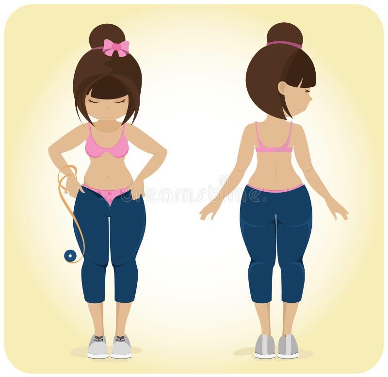An overweight girl.