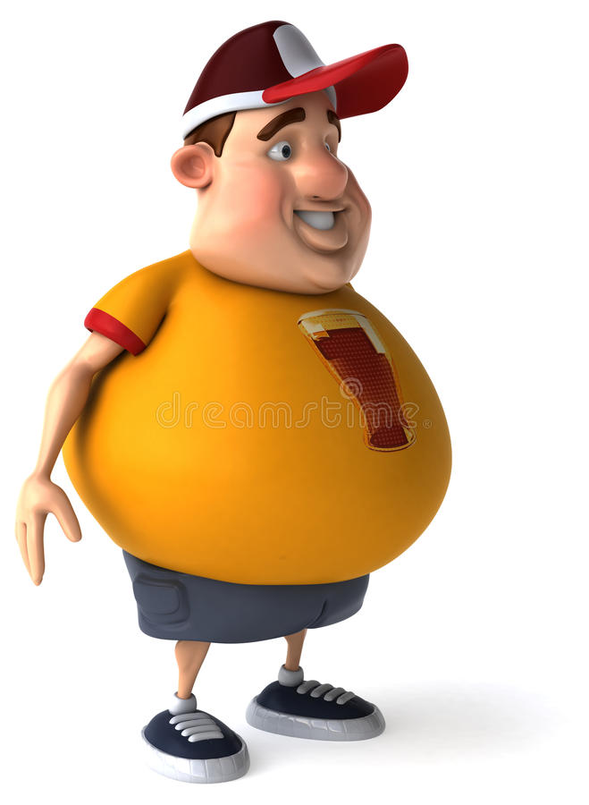 Overweight guy stock illustration