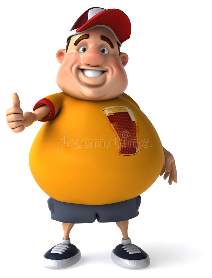 Overweight guy vector illustration