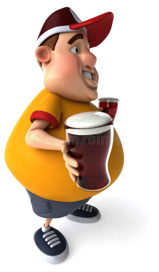 Overweight guy royalty free illustration
