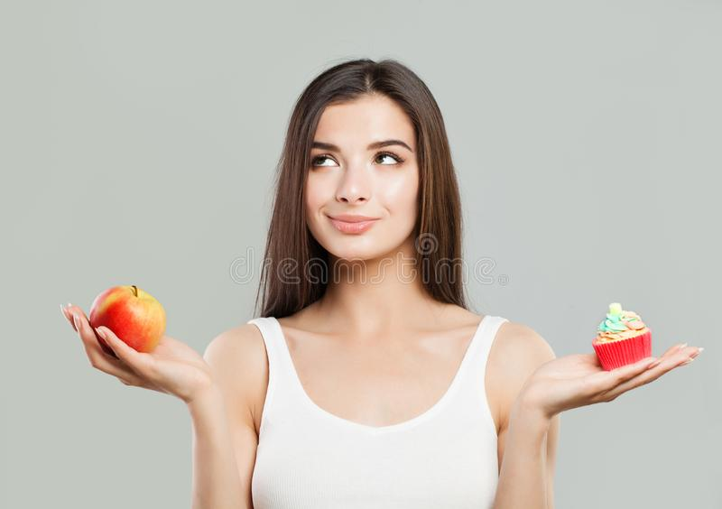 Overweight, Healthy Eating and Diet Concept. stock image