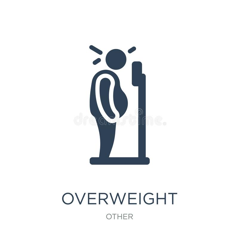 overweight icon in trendy design style. overweight icon isolated on white background. overweight vector icon simple and modern stock illustration