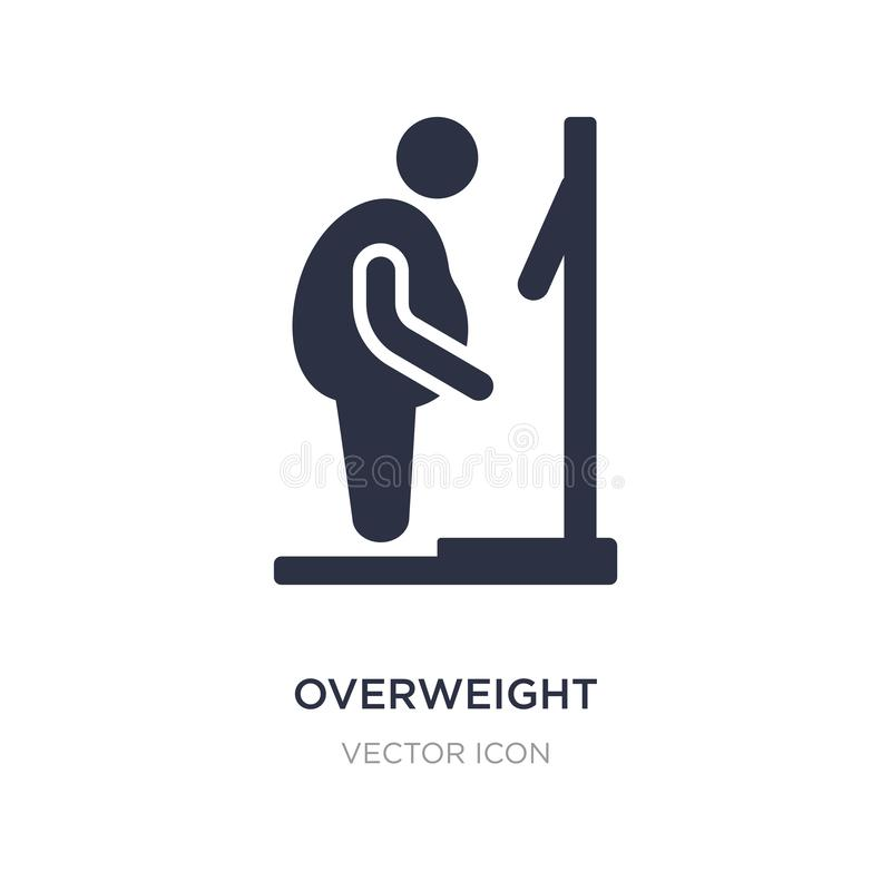 overweight icon on white background. Simple element illustration from Other concept vector illustration
