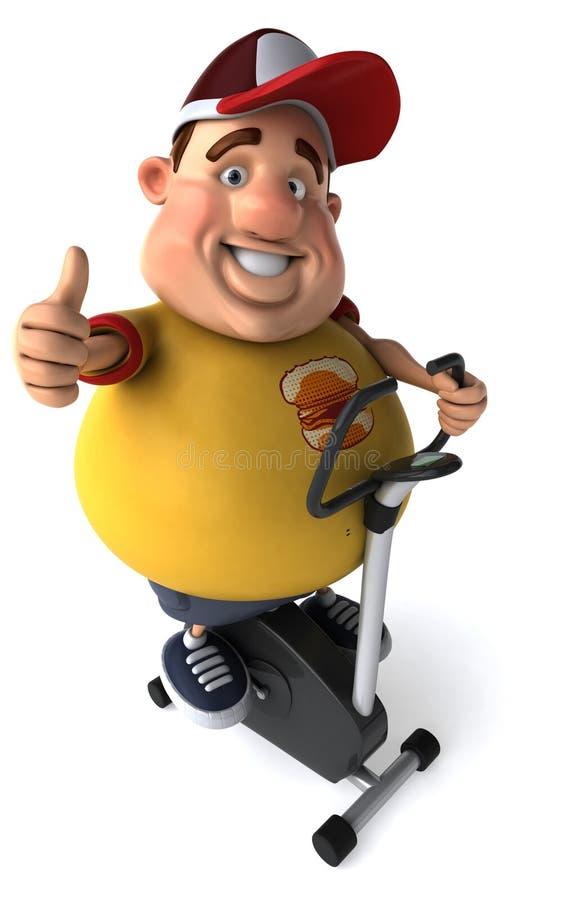 Overweight kid vector illustration