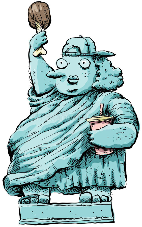 Download Overweight Liberty stock illustration. Illustration of statue - 22938046