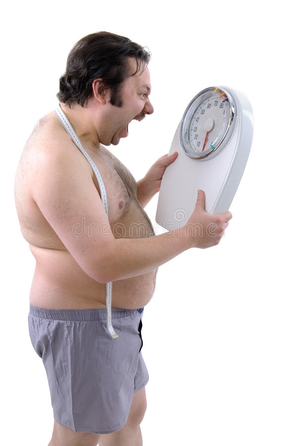 Overweight man royalty free stock photo