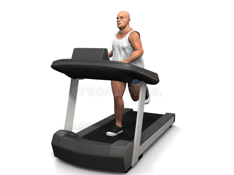Download Overweight Man On The Treadmill Stock Photography - Image: 18583402