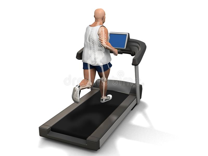 Download Overweight Man On The Treadmill Stock Photography - Image: 18583442