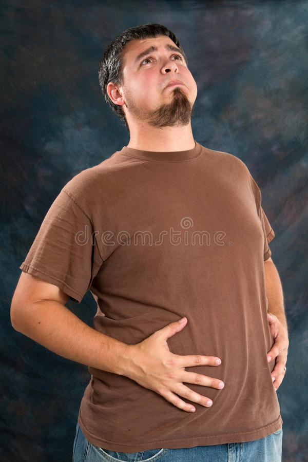 Free Overweight Man With Indegestion Royalty Free Stock Photography - 15066207