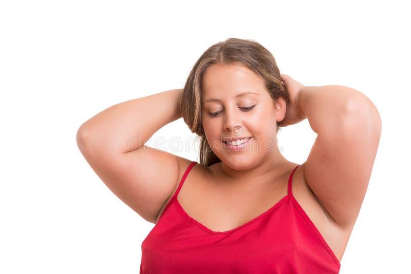 Overweighted γυναίκα στοκ εικόνα με δικαίωμα ελεύθερης χρήσης