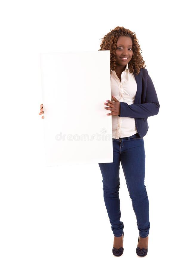 Overweighted Geschäftsfrau lizenzfreie stockbilder
