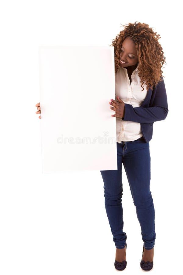 Overweighted Geschäftsfrau stockbild