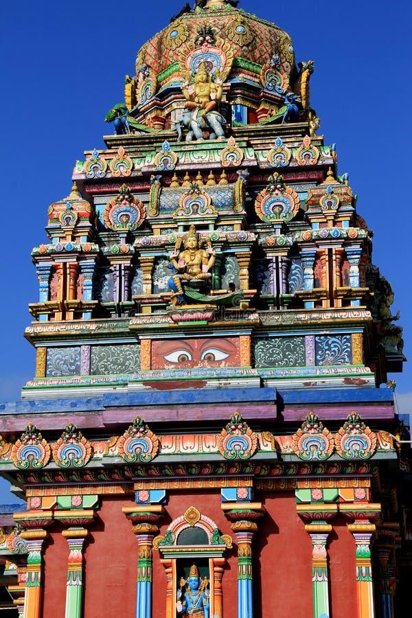 Overweldigend detail, de tempel van Sri Siva Subramaniya, Fiji, 2015 royalty-vrije stock afbeeldingen