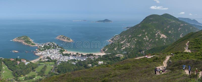 Overweldigend landschap van Hong Kong Bekeken van royalty-vrije stock foto