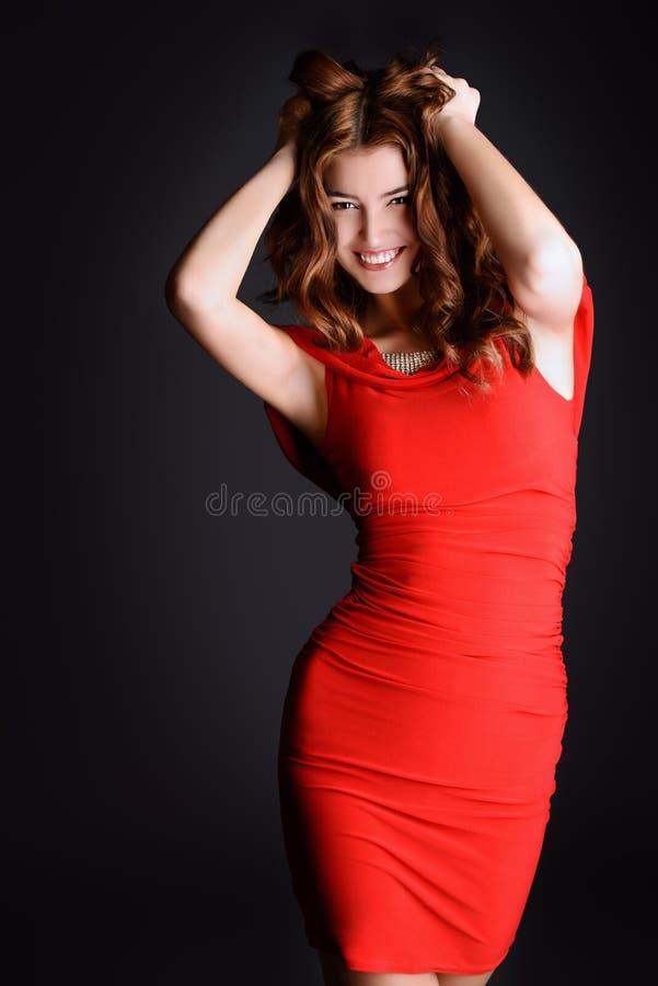 Overweldigende dame stock foto