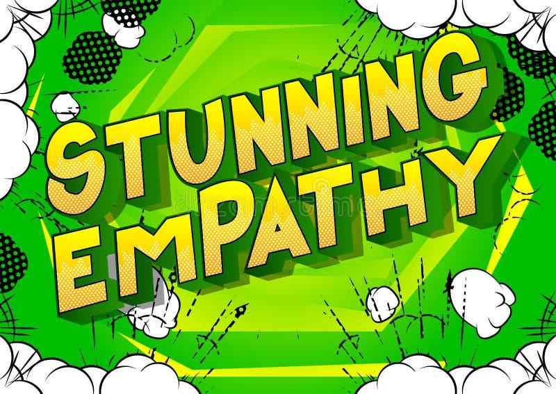 Overweldigende Empathie - de Grappige woorden van de boekstijl vector illustratie