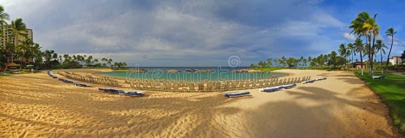 Overweldigende Koolina Toevlucht Panoramisch Hawaï stock foto's