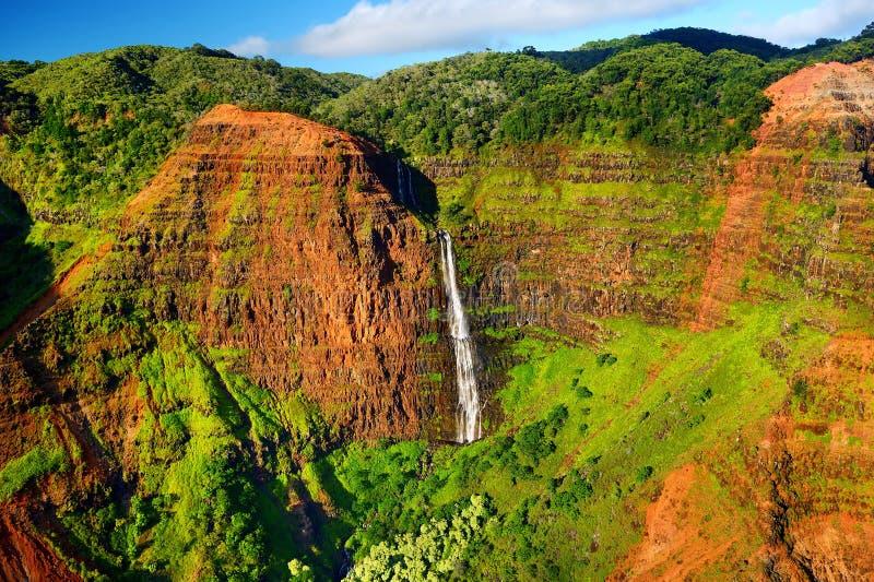 Overweldigende mening in Waimea-Canion, Kauai royalty-vrije stock foto's