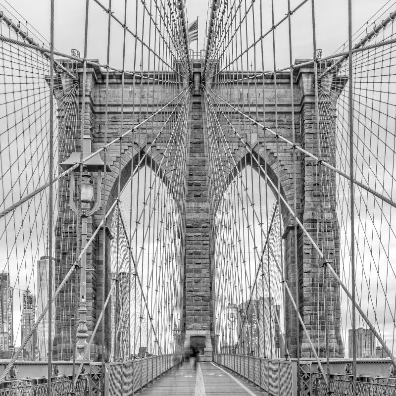 overweldigende meningen van de Brug van Brooklyn, de Stad van New York royalty-vrije stock afbeelding