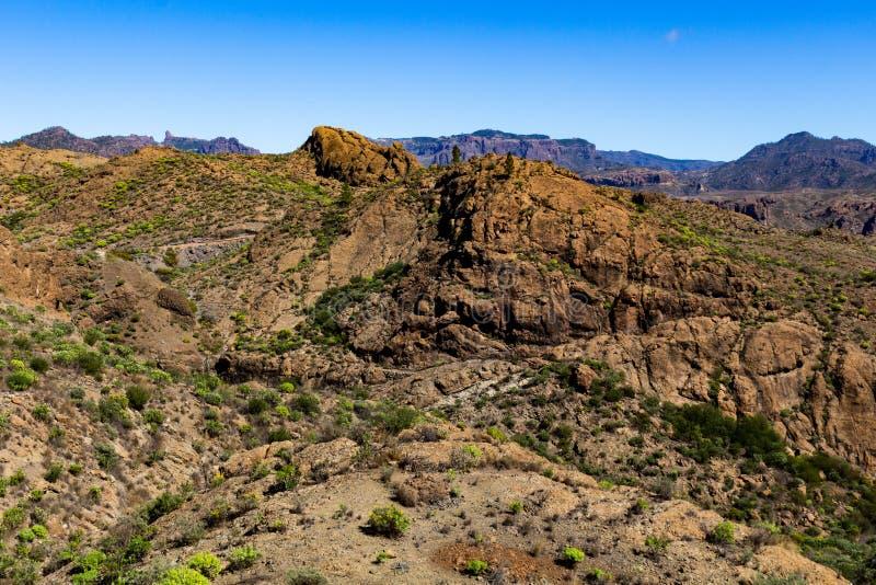 Overweldigende pieken Gran Canaria stock foto