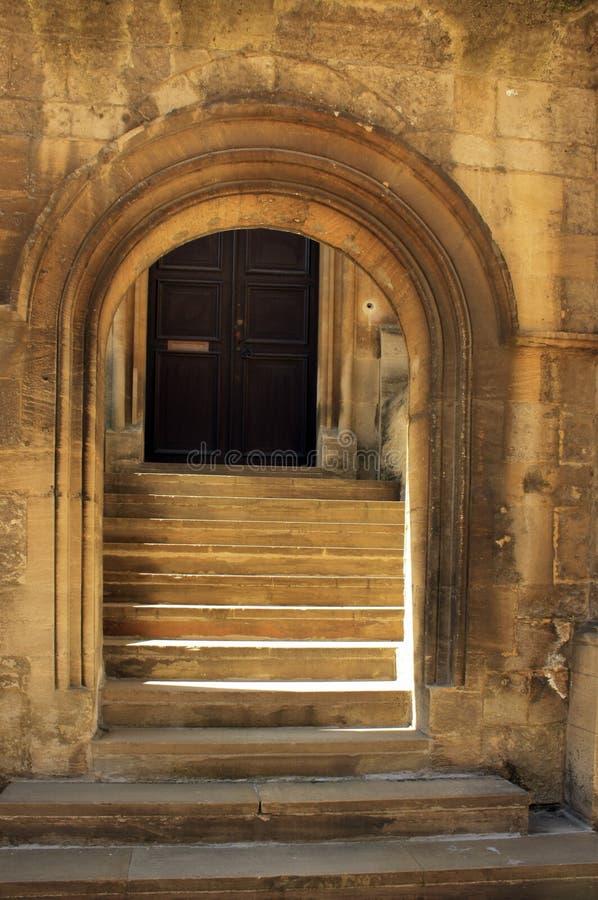 Overwelfde galerij in Bodelian Bibliotheek, de Universiteit van Oxford stock afbeeldingen