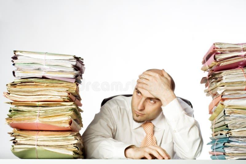 overwhelmed бизнесмен стоковые изображения rf