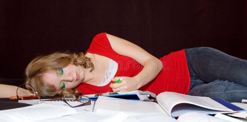 overwhelmed студент стоковые фото