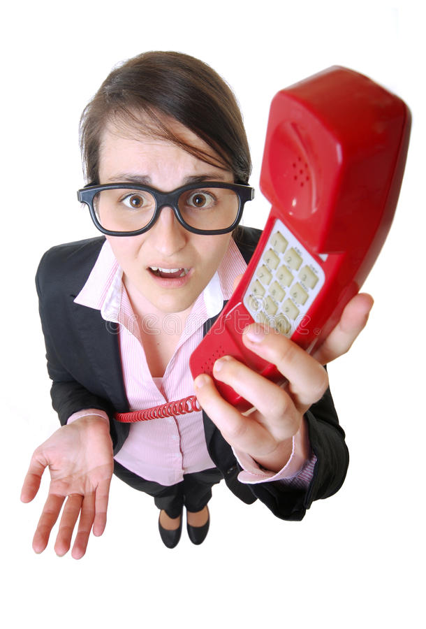 Download Overwhelmed businesswoman stock photo. Image of intelligence - 24189866