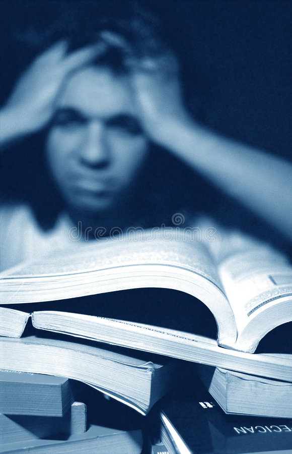 Download Overwhelmed by Homework stock photo. Image of adult, english - 1860514