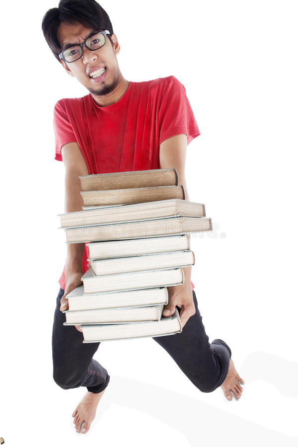 Download Overwhelmed student stock photo. Image of college, exhausted - 23632476