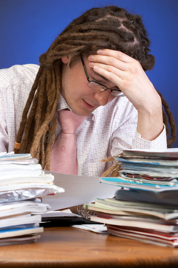 Download Overwhelmed by work stock image. Image of portrait, paperwork - 2704295