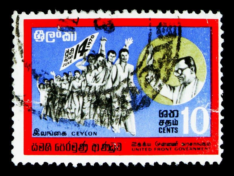 Overwinning maart, Onafhankelijkheid serie, circa 1970 stock foto's